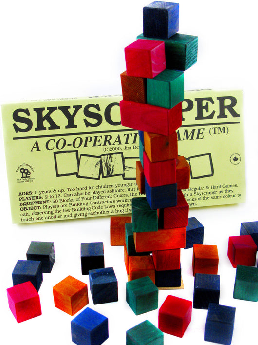 SkyScrper Blocks Mid-Game, by Family Pastimes Co-operative Games™