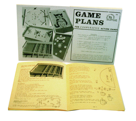 Co-op Action Game Plans Manual with Game Rules Displayed Open