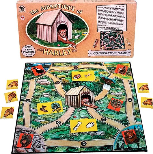 The Adventures of Harley Game Box, Board and Pieces ready to Play