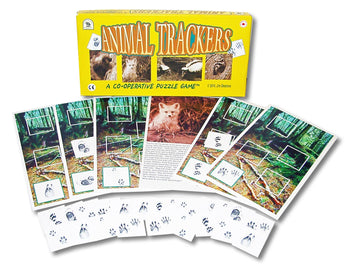 Animal Trackers Game Box and Cards Displayed