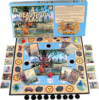 A Beautiful Place Game Box, Board and Pieces ready to Play