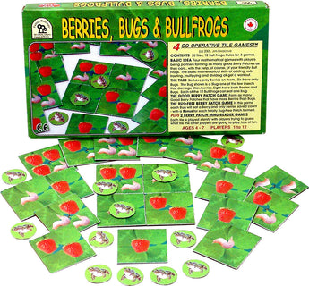 Berries, Bugs and Bullfrogs Game Box and Cards Displayed