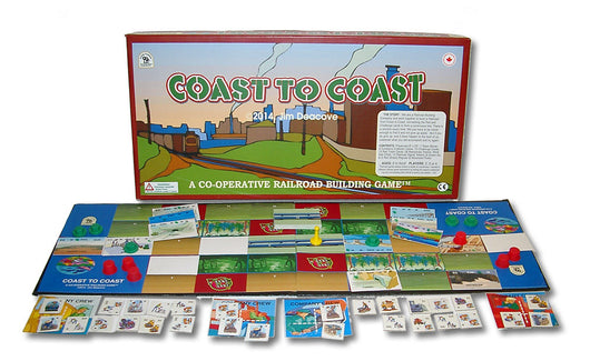 Coast to Coast Game Box, Board and Cards Displayed as in Play