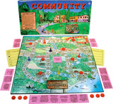 Community Game Box, Board and Pieces Displayed