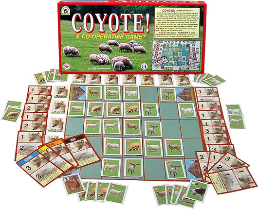 Coyote Game Box, Board and Pieces Displayed as in Play