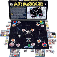 Dark & Dangersous Skies Game Box, Board and Pieces Displayed as in Play