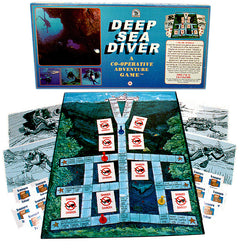 Deep Sea Diver Game Box, Board and Pieces Displayed as in Play