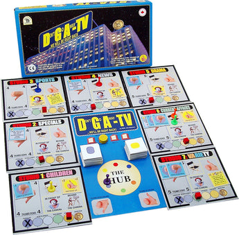 DGA-TV Game Box, Board and Pieces Displayed as in Play