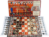 Diplomatic Mission Game Box, Board and Pieces Displayed as ready for Play
