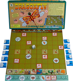 Dragonfly Game Box, Board and Pieces Displayed as in Play