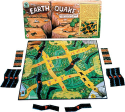 EarthQuake Game Box, Board and Pieces Displayed as in Play