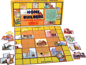 Home Builders  Game Box, Board and Pieces Displayed as in Play