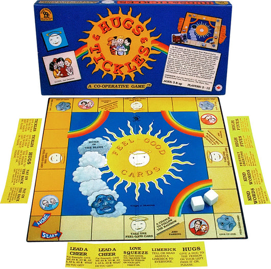 Hugs and Tickles Game Box, Board and Pieces Displayed as in Play