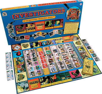 Investigators Game Box, Board and Pieces Displayed as in Play