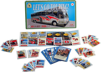 Let's Go Touring Game Box, Board and Pieces Displayed as in Play
