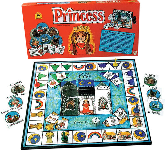 Princess Game Box, Board and Pieces set up to Play
