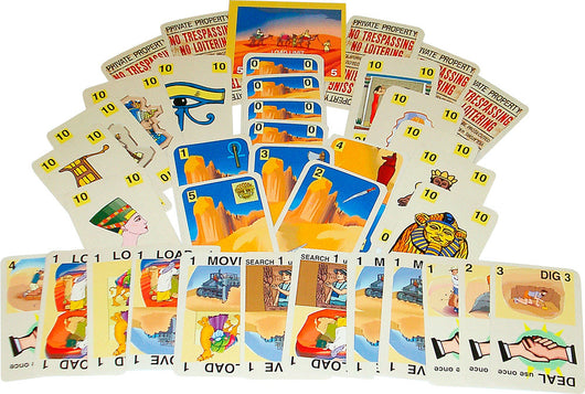 Sahara Search Game Box, Cards arranged for Display