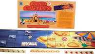 Sand Castles Game Box, Board and Cards laid out for Play