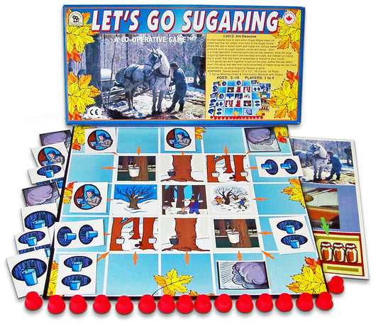 Let's Go Sugaring Game Box, Board and Pieces Displayed as in Play