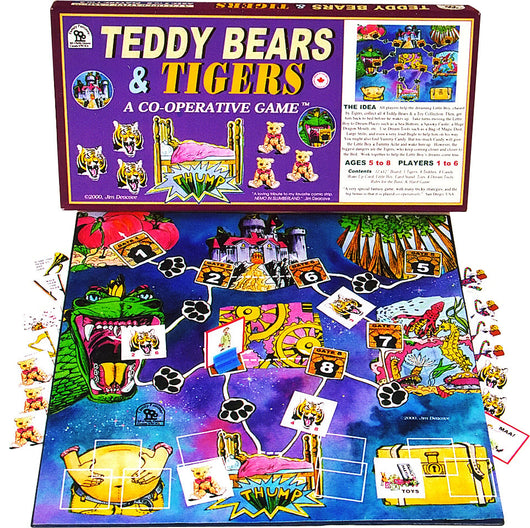 Teddy Bears & Tigers Game Box, Board and Pieces Ready to Play