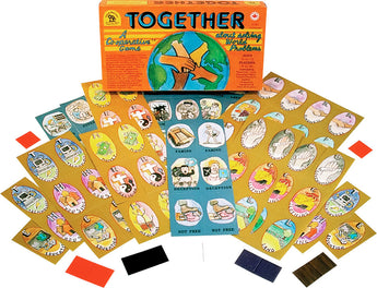Together Game Box, Cards and Pieces Displayed