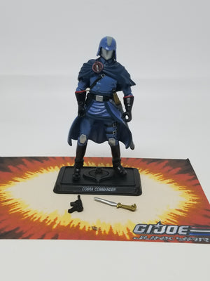 GI Joe Resolute Cobra Commander Loose Complete, Modern GI Joe Figures - GI Joe Junkyard
