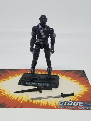 GI Joe 25th Snake Eyes v37 Loose Complete, Modern GI Joe Figures - GI Joe Junkyard
