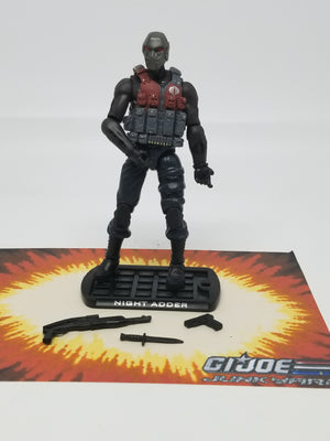 GI Joe Rise of Cobra Night Adder, Modern GI Joe Figures - GI Joe Junkyard