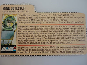 1983 Tripwire, GI Joe Parts - GI Joe Junkyard