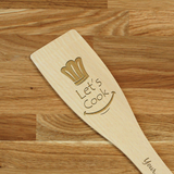 Engraved Personalized wooden SPATULA Let's Cook #1