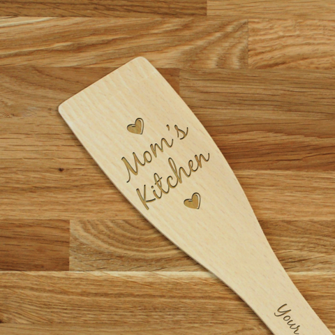 Engraved Personalized wooden SPATULA Mom's Kitchen