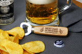 Personalised Engraved Bottle Opener ANY TEXT Best Dad In The World Xmas Birthday Anniversary Gift