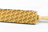 BERNESES MOUNTAIN DOG - Engraved rolling pin, embossing rolling pin with dog breed pattern by Wood's Good Made in UK