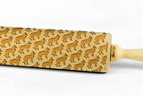 BORDER COLLIE - Engraved rolling pin, embossing rolling pin with dog breed pattern by Wood's Good Made in UK