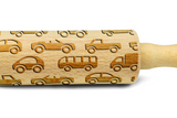 CARS Rolling Pin - Engraved rolling pin - Laser rolling pin - Embossing rolling pin with cars pattern KIDS rolling pins