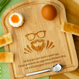 Personalised Engraved EGG & TOAST Board - DAD FACE