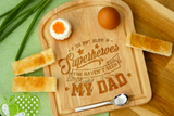 Personalised Breakfast Egg Toast Shape Board Dippy Eggs - Superheroe Dad Father's Day Gift