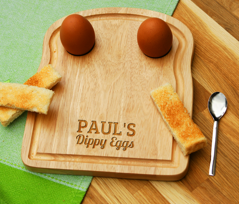 Personalised Engraved EGG & TOAST Board - DIPPY EGGS