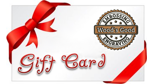 GIFT CARD Wood's Good Personalised Embossing Engraving Gifts for ANY occasions! Embossing rolling pins, cheese board set, chopping board, wallets and many more! Check it out!