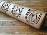 PERSONALIZED rolling pin, CUSTOM LOGO & ARTWORK – Embossing wooden rolling pin