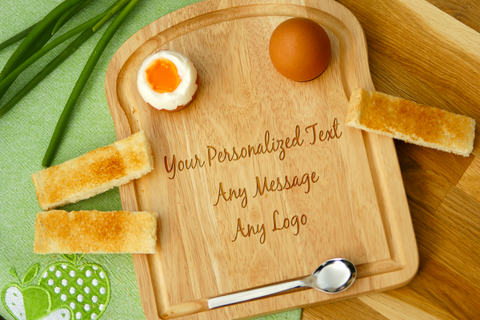 Personalised Engraved Egg Toast Board for Dippy Egg & Soldiers Gift for Kids - ANY DESIGN -