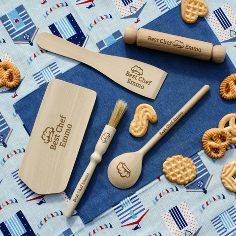 Personalised Engraved KIDS Baking Set - BEST CHEF