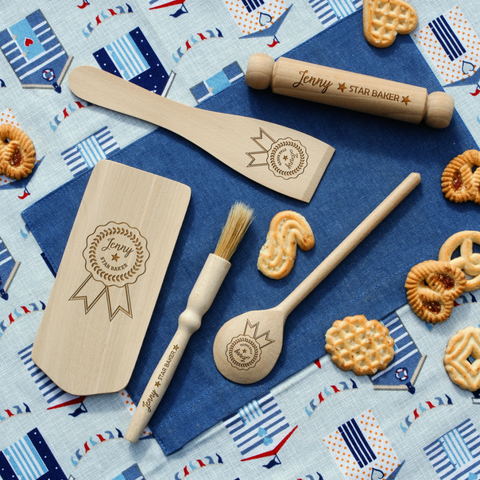 Personalised Engraved KIDS Baking Set - ★ STAR BAKER ★ 2