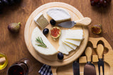 Personalised Wooden Cheeseboard Gift Set - Engraved with Knife Set by Wood's Good - Made in UK -