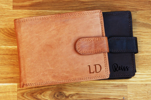 Personalised engraved TAN, DARK BROWN leather Wallet, Personalised wallet, personalised wallet for men, personalised mens wallet, leather wallet, mens leather wallet