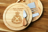 Personalised SCOTTISH AMBULANCE SERVICE - NHS HEROES Inspired Wooden Cheeseboard Gift Set - Engraved with Knife Set by Wood's Good - Made in UK -