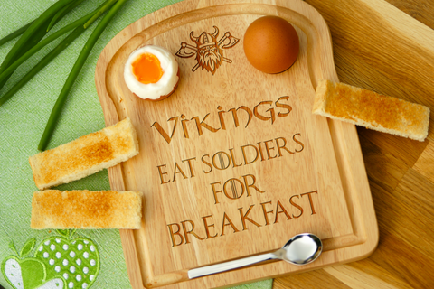 Personalised Engraved EGG & TOAST Board - VIKINGS