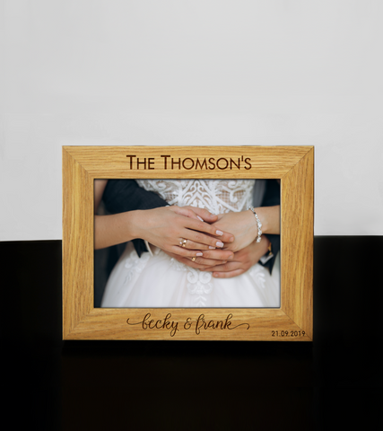 Personalised Engraved Photo Frame Wedding Anniversary Birthday Keepsake Gift