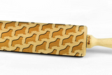 BEARDED COLLIE - Engraved rolling pin, embossing rolling pin with dog breed pattern by Wood's Good Made in UK
