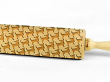 CHIHUAHUA - Engraved rolling pin, embossing rolling pin with dog breed pattern by Wood's Good Made in UK